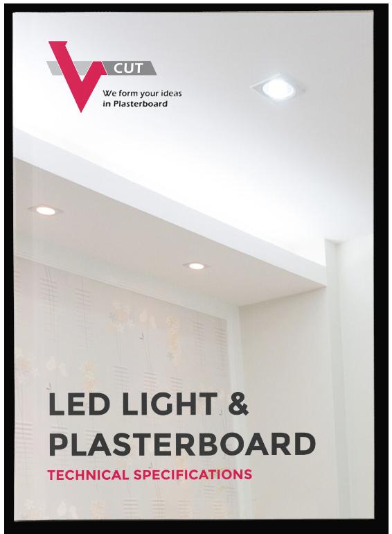 Led, Light & Plasterboard | V- Cut
