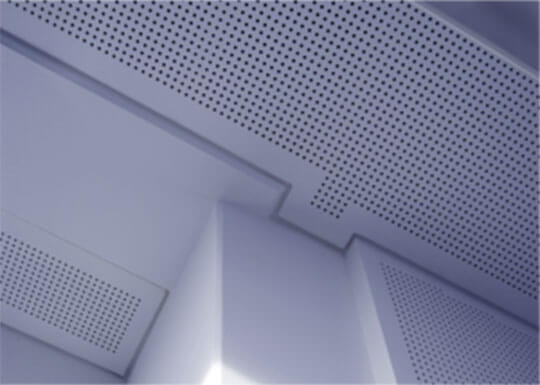 Perforated plasterboard ceiling from V-Cut