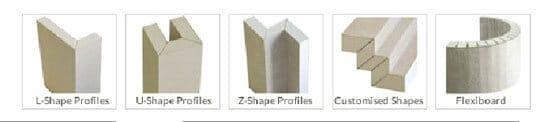 V-Cut Profiles diagram